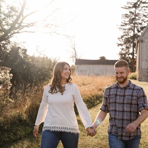 FALLING IN LOVE // TROY FARM PARK FALL ENGAGEMENT