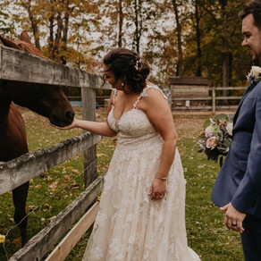 BRENDA + CHAD | FALL RUSTIC BARN WEDDING | METRO DETROIT WEDDING PHOTOGRAPHER