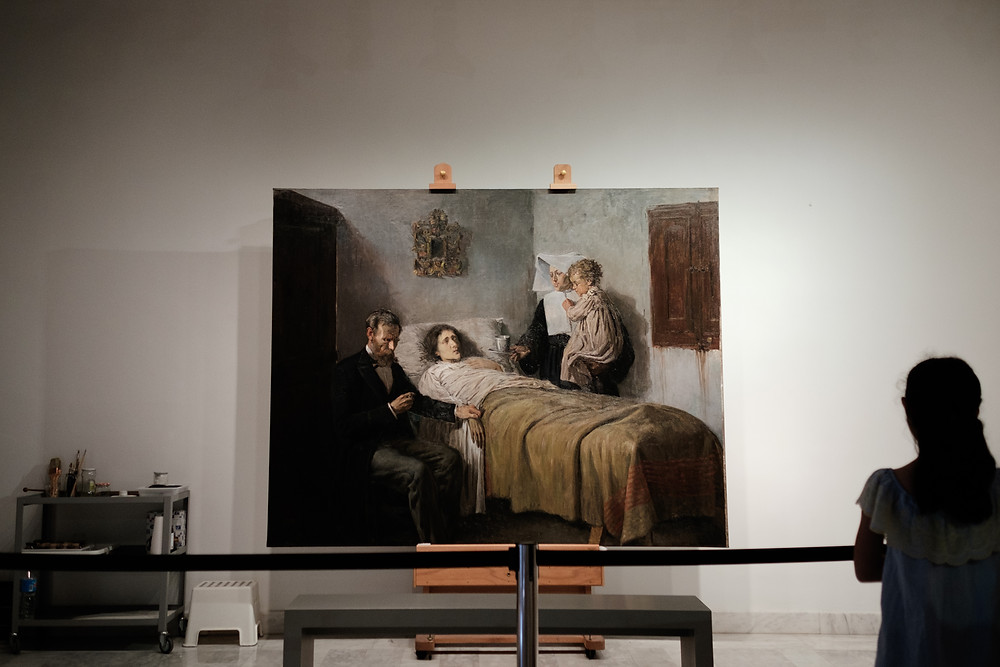 painting restoration at the Picasso Museum