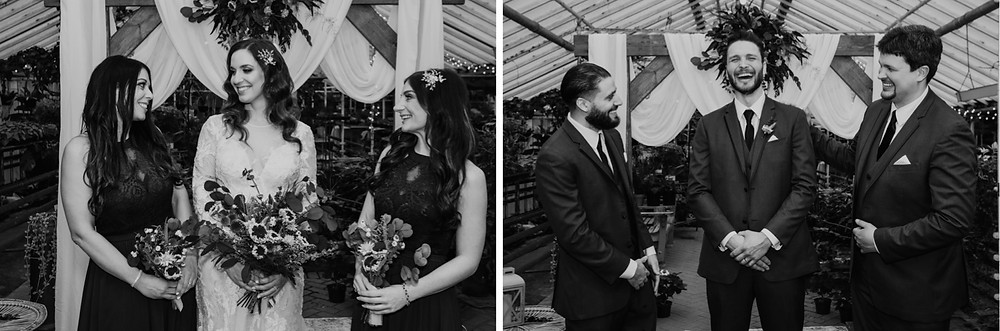 Bridesmaids and groomsmen at intimate wedding. Photographed by Nicole Leanne Photography.