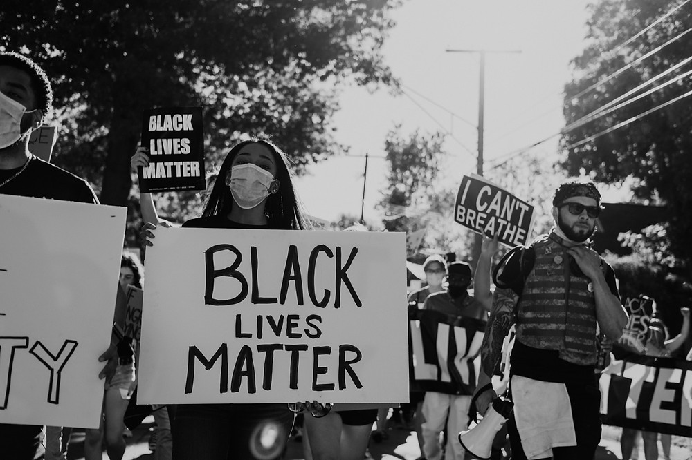 Black Lives Matter protest signs in Michigan protest
