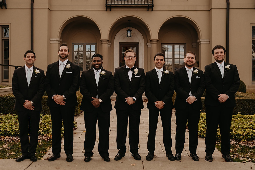 Groomsmen and groom on wedding day. Photographed by Nicole Leanne Photography.