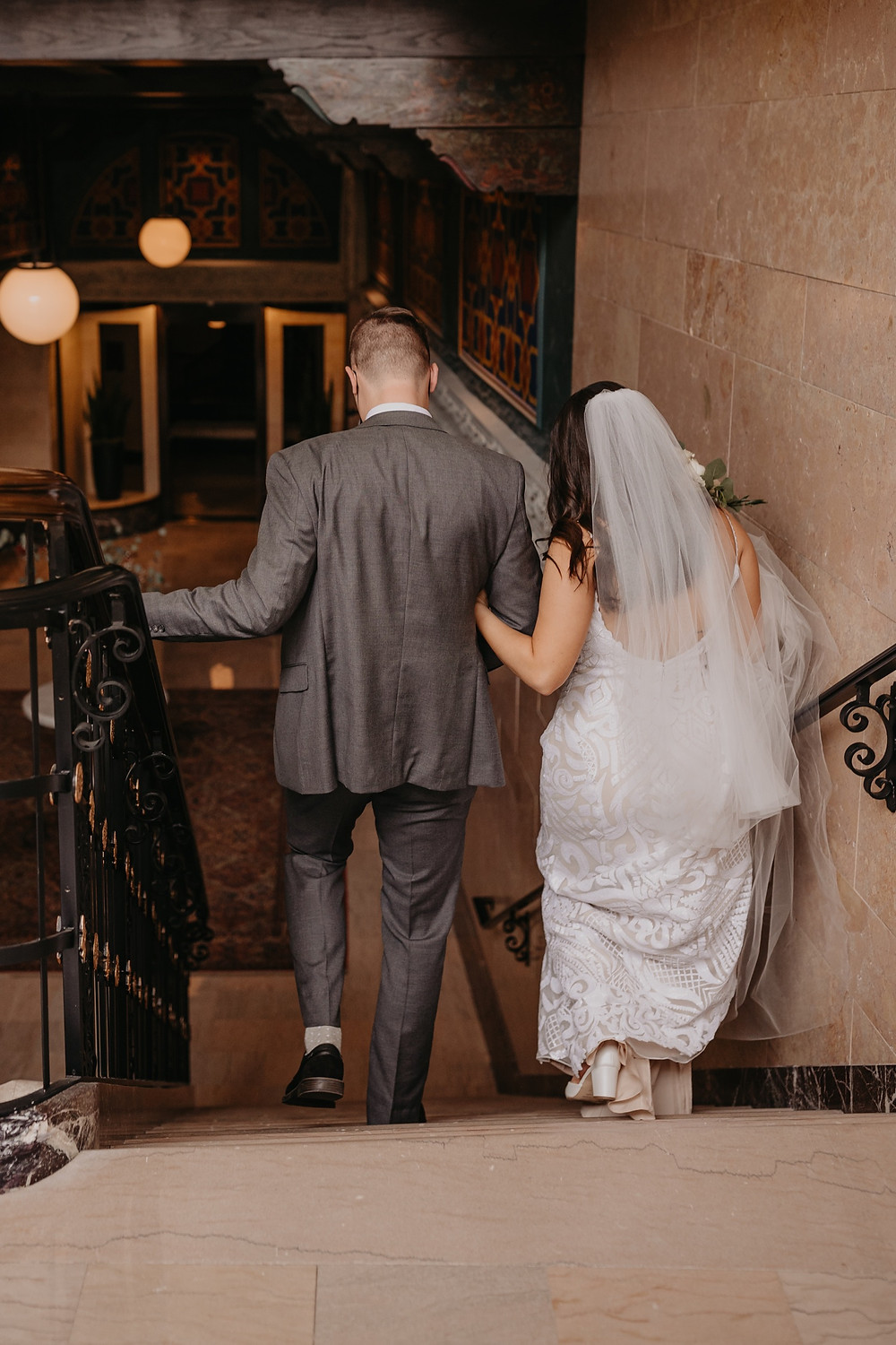 Bride and groom exit wedding ceremony. Photographed by Nicole Leanne Photography.
