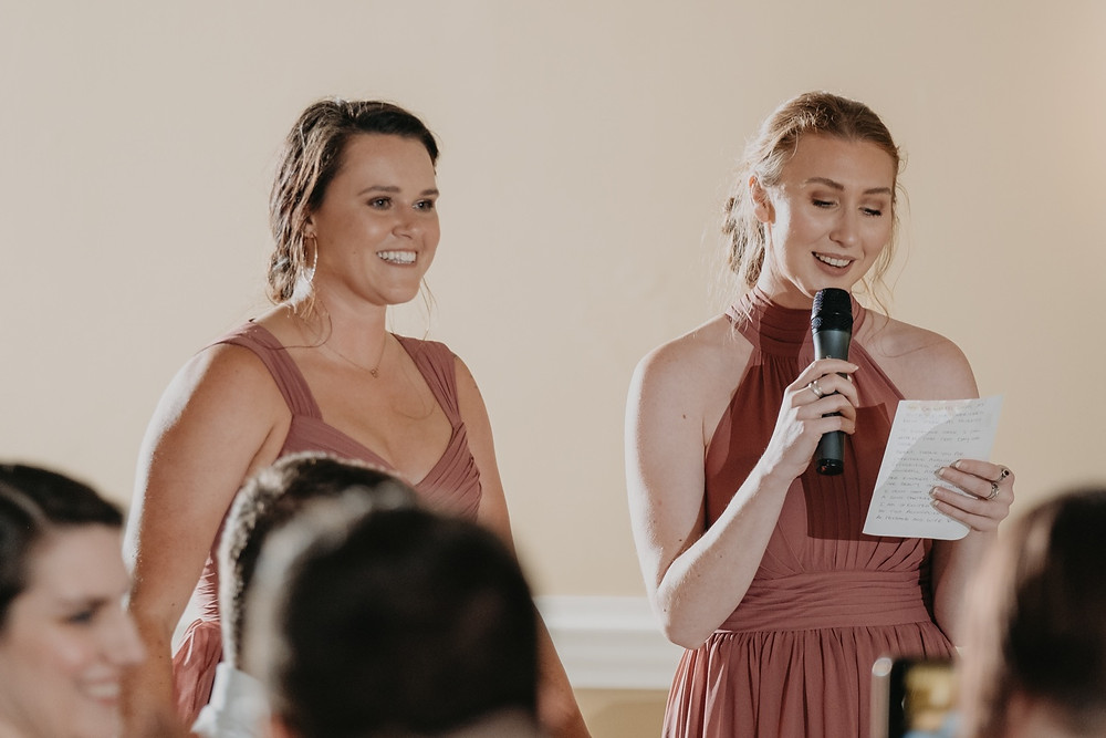 Wedding day speeches. Photographed by Nicole Leanne Photography.