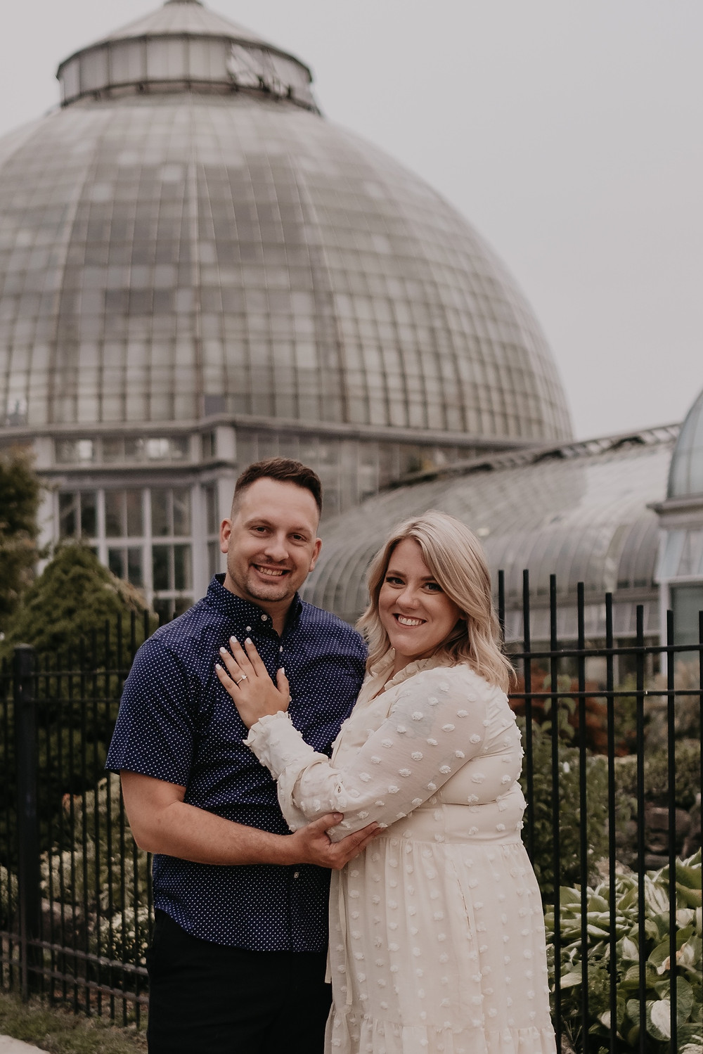 Belle Isle Conservatory engagement photo session in Detroit. Photographed by Nicole Leanne Photography.