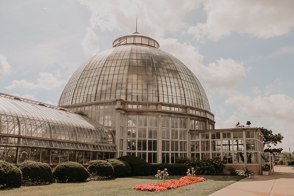 Belle Isle Conservatory in Detroit, Michigan. Photographed by Nicole Leanne Photography.