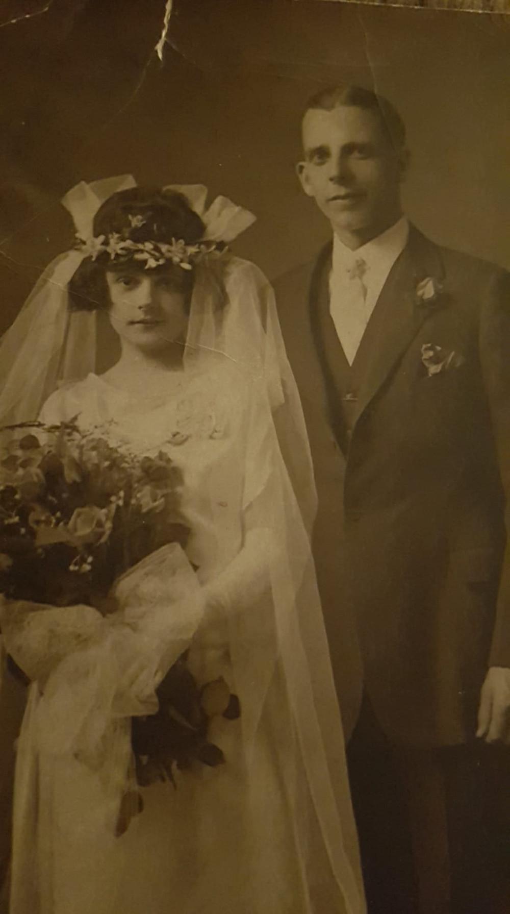 antique wedding photograph
