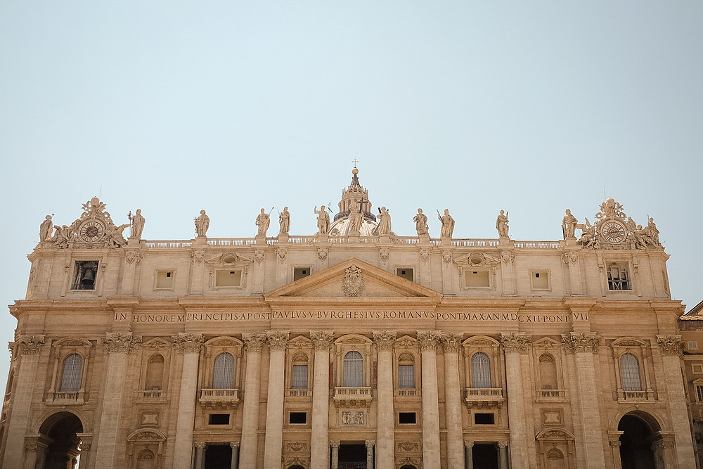 Saint Peter's Basilica, front of building