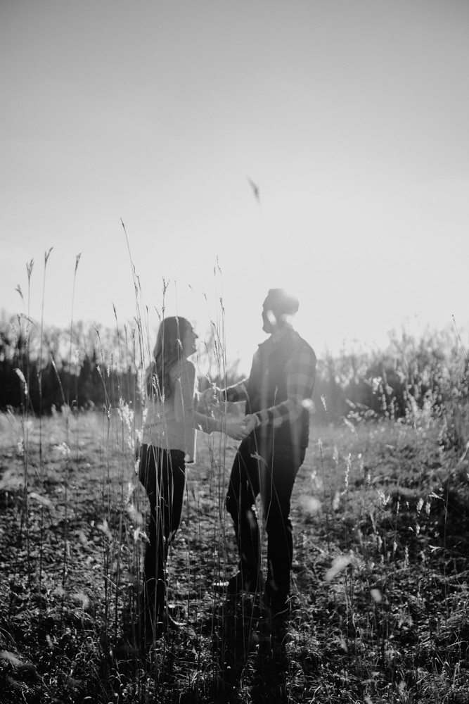 out of focus black and white photograph of couple
