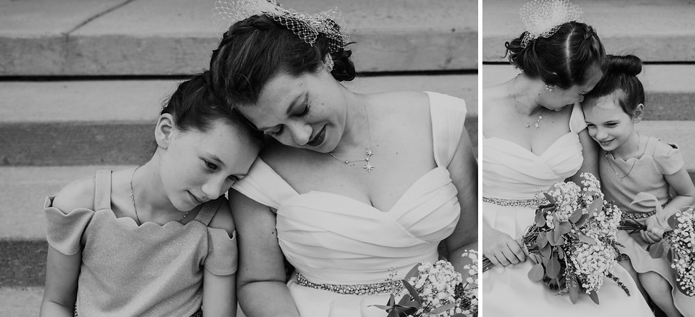 Black and white family photos at wedding in Metro Detroit. Photographed by Nicole Leanne Photography.