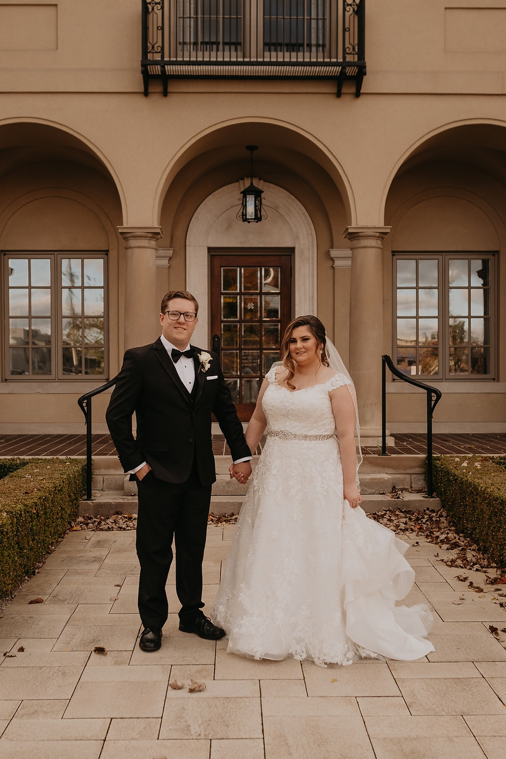 Downtown Rochester Michigan wedding photos. Photographed by Nicole Leanne Photography.