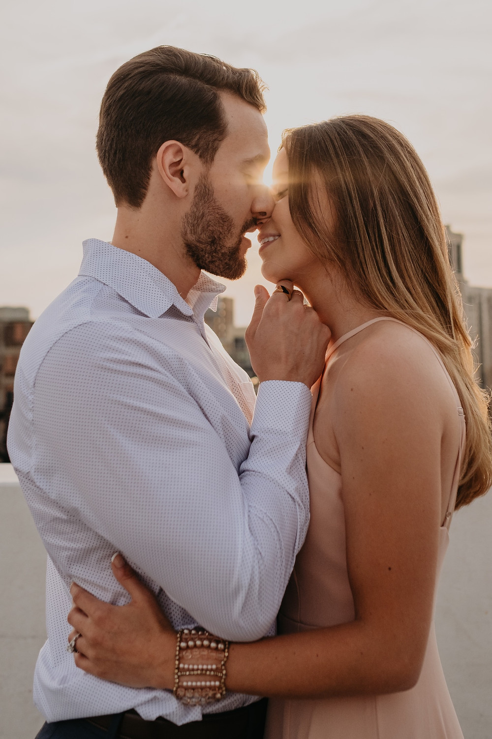 Engagement photos in Detroit. Photographed by Nicole Leanne Photography.