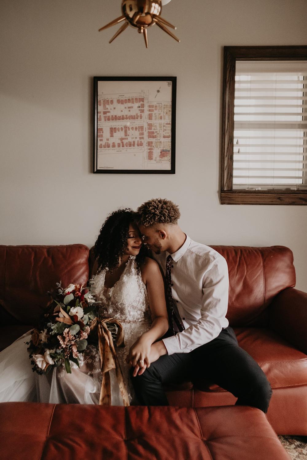 Detroit elopement photos of couple. Photographed by Nicole Leanne Photography.