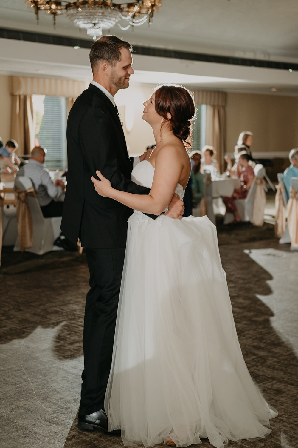 Bride and groom first dance. Photographed by Nicole Leanne Photography.