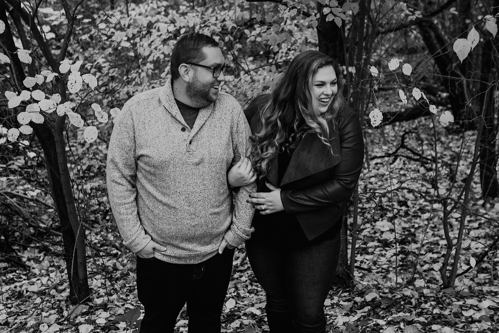 Park engagement session in Metro Detroit. Photographed by Nicole Leanne Photography.
