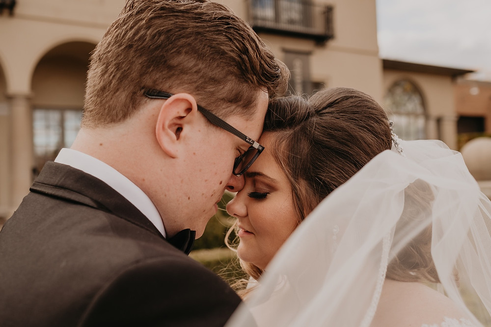 Detroit wedding photos with bride and groom. Photographed by Nicole Leanne Photography.