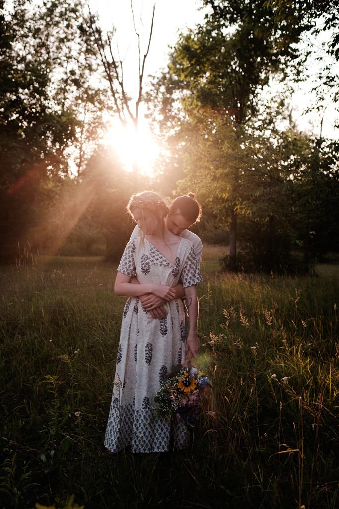 sunset portraits couple