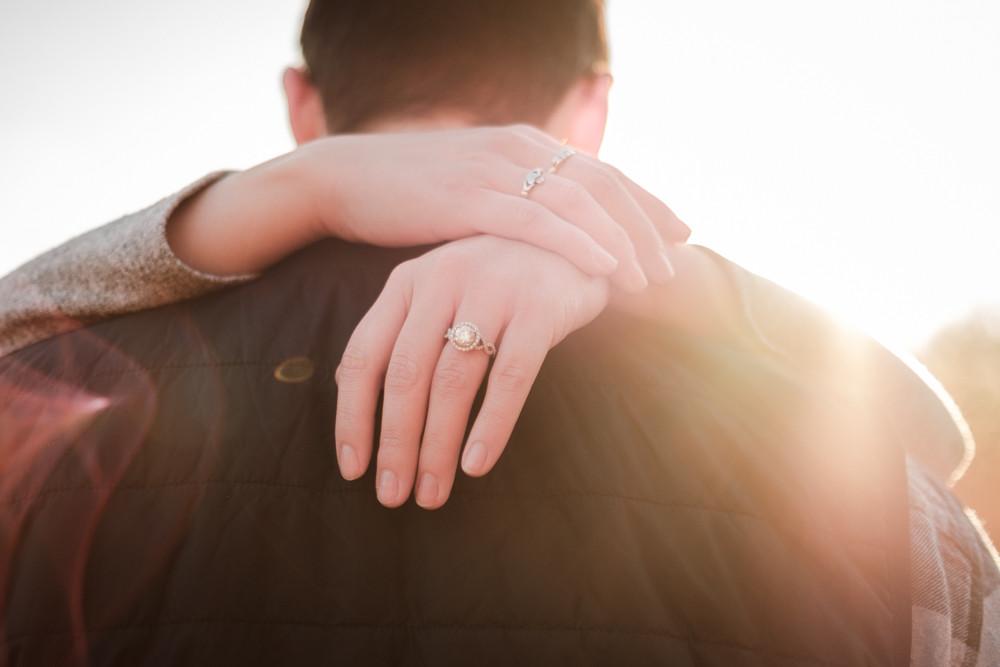 ring shot michigan engagement photography
