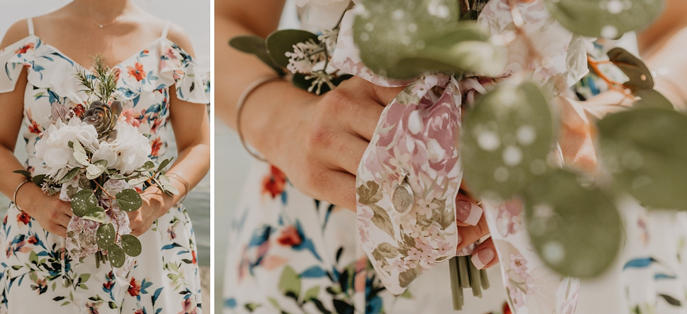 Casual summer bridal bouquet. Photographed by Nicole Leanne Photography.