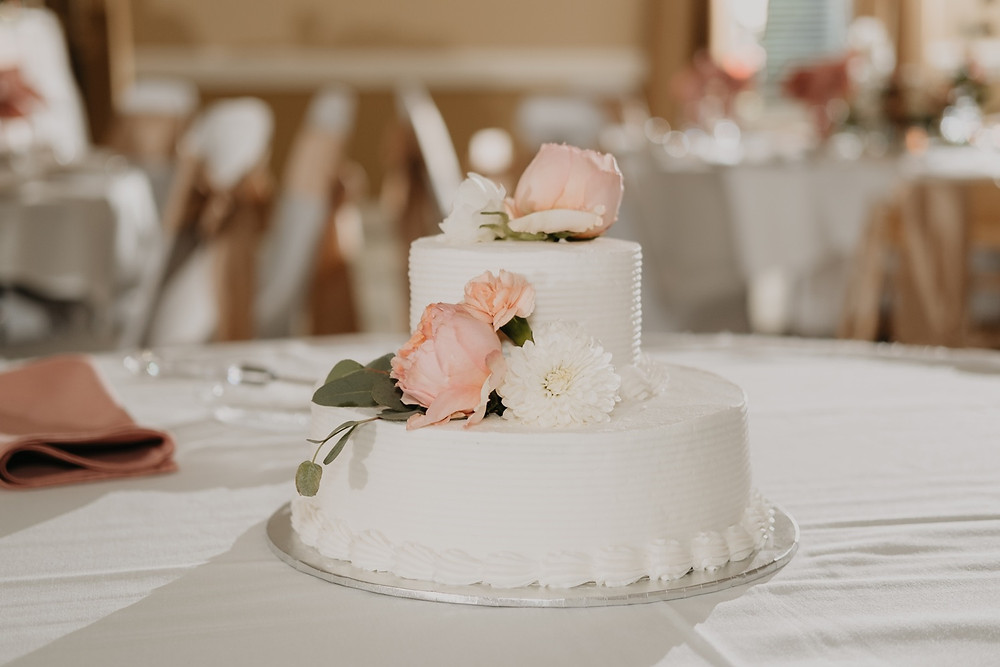 Simple Spring wedding cake. Photographed by Nicole Leanne Photography.