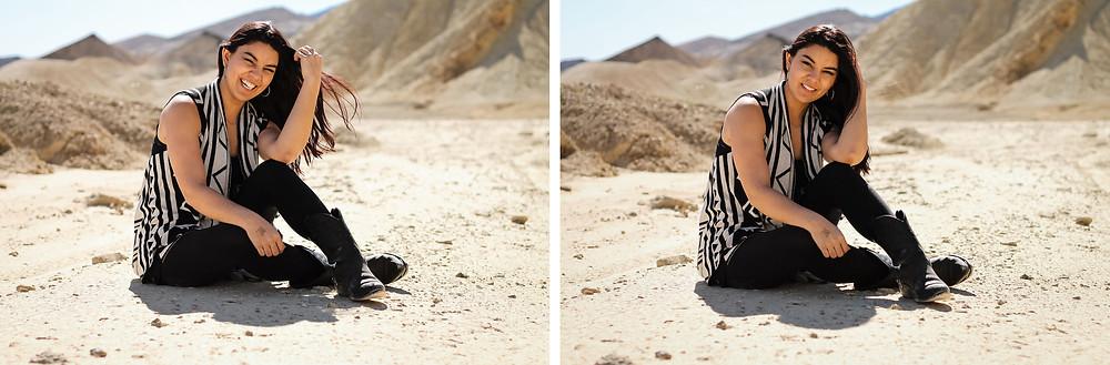 desert portraits, laughing