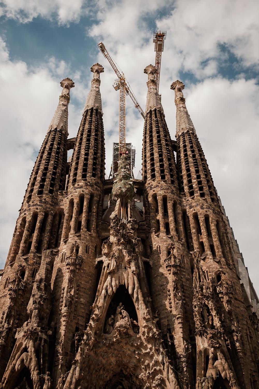Sagrada Familia, building in progress