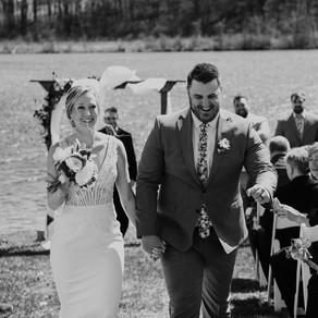 Chelsea + Kaleb | Michigan Spring Backyard Wedding | Metro Detroit Wedding Photographer