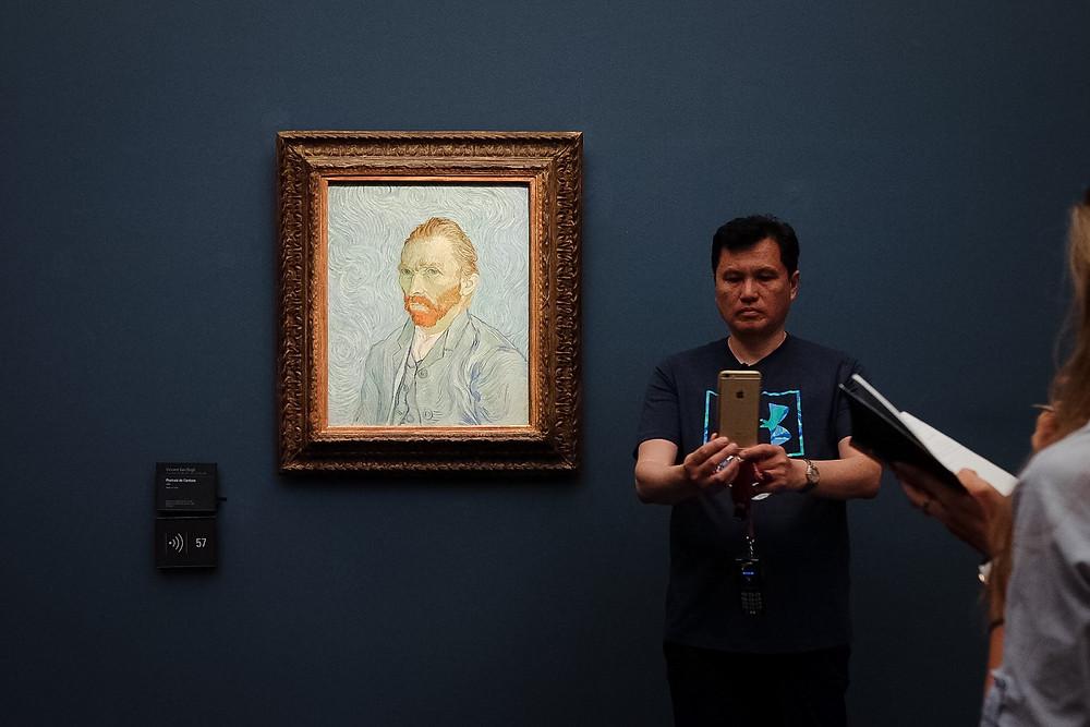 Musee d'Orsay, Selfie with Van Gogh