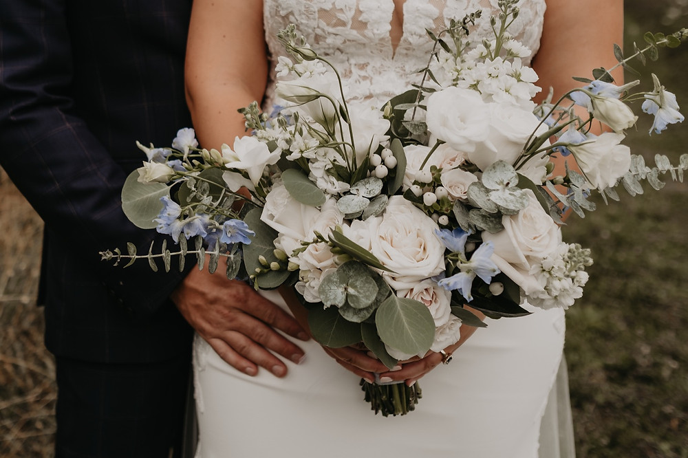Wedding bouquet created by Love In Bloom photographed by Nicole Leanne Photography