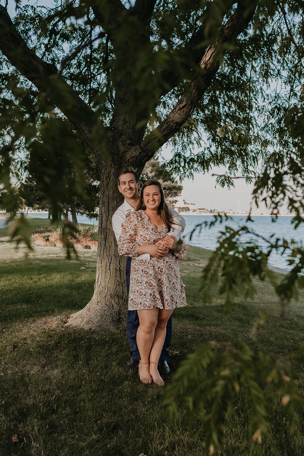 Metro Detroit summer engagement photos. Photographed by Nicole Leanne Photography.
