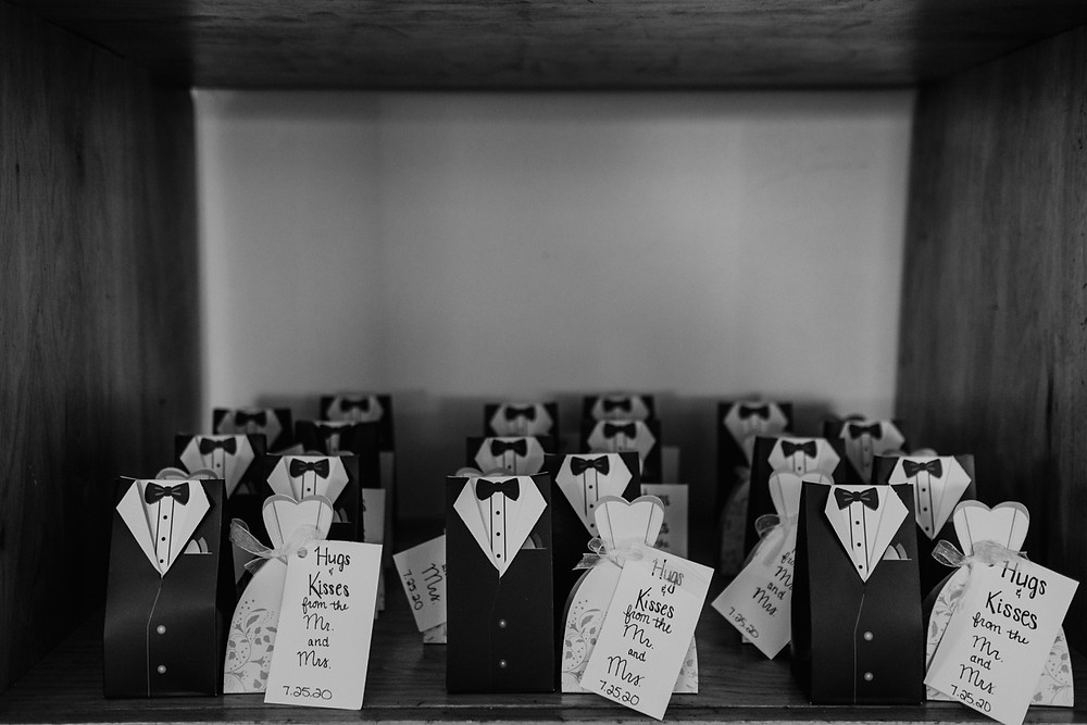 Wedding favors for casual wedding. Photographed by Nicole Leanne Photography.