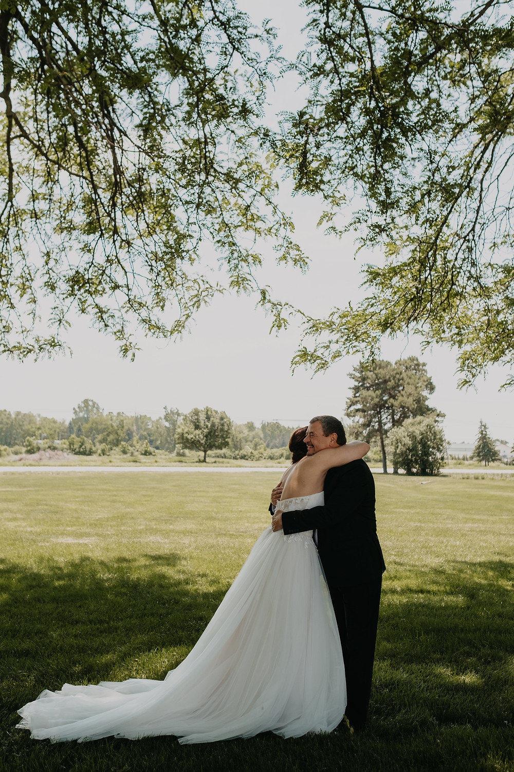 First look with father of the bride. Photographed by Nicole Leanne Photography.