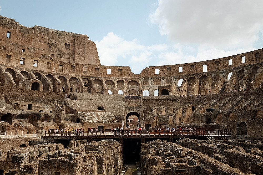 The Roman Colosseum. Photographed by Nicole Leanne Photography.