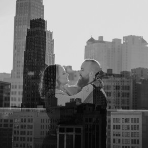 DOWNTOWN DETROIT ENGAGEMENT // DARA + GRIFFIN