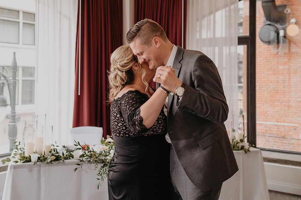 Mother and son dance at wedding for special dance