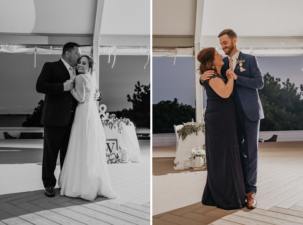 Family dance with bride and groom. Photographed by Nicole Leanne Photography.