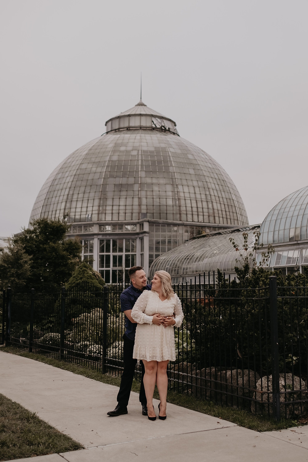 Belle Isle Conservatory engagement photos. Photography by Nicole Leanne Photography