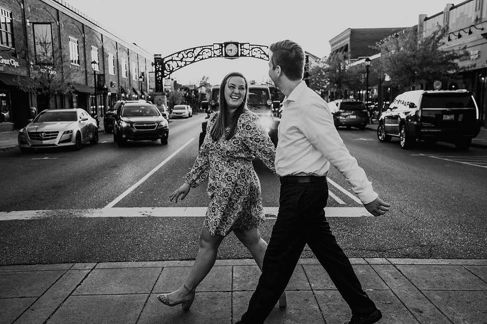 Black and white street photography in Metro Detroit. Photographed by Nicole Leanne Photography.