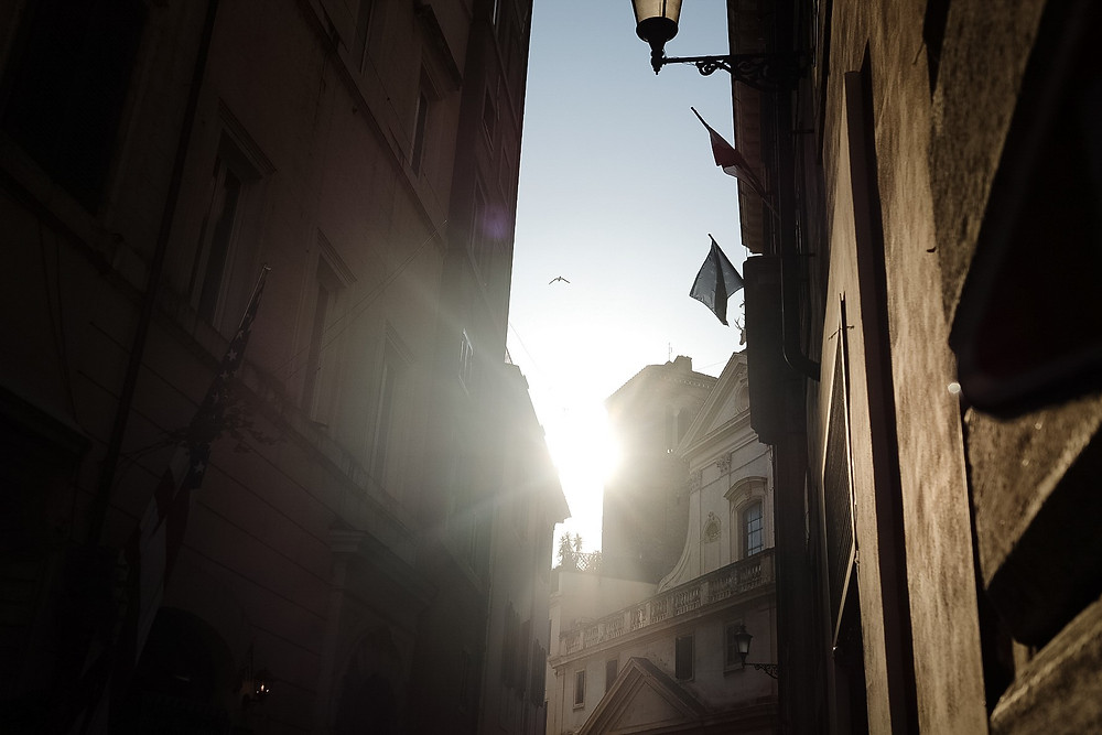 italian streets, rome and sunshine