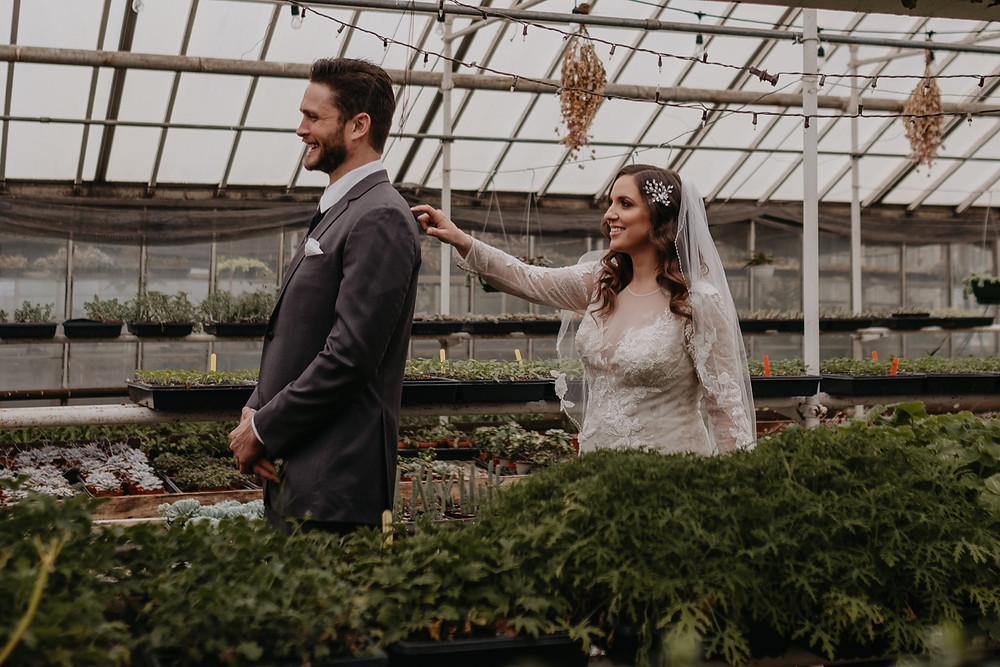 First look in Graye's Greenhouse in Metro Detroit. Photographed by Nicole Leanne Photography.