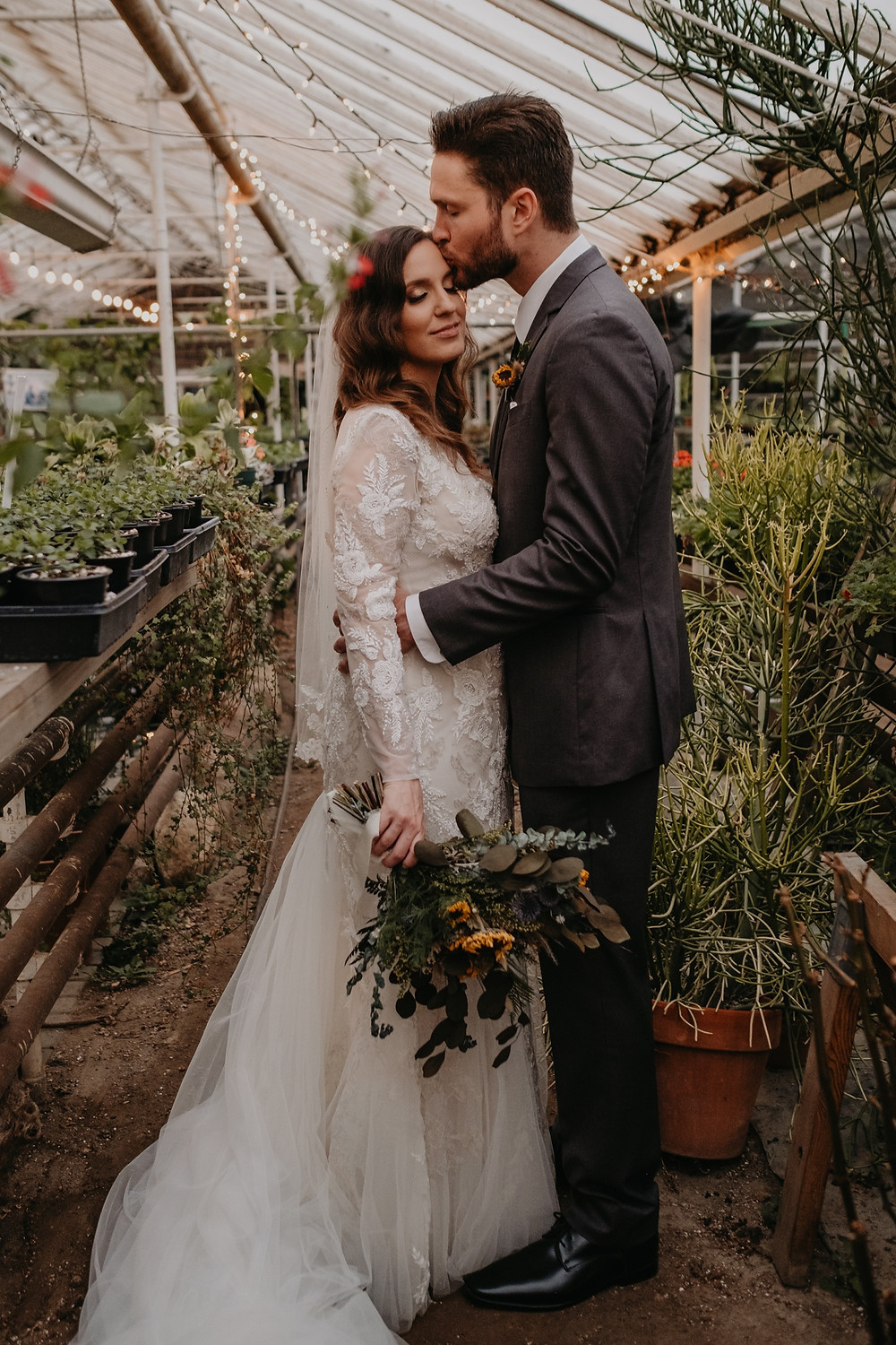 Graye's Greenhouse lifestyle wedding photos. Photographed by Nicole Leanne Photography.
