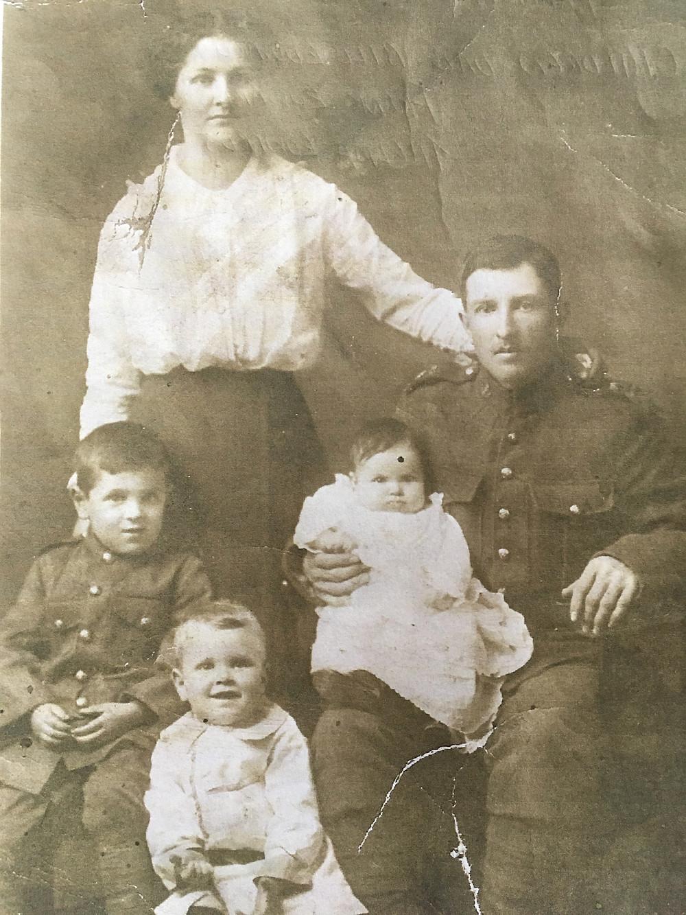 antique family photo, canada
