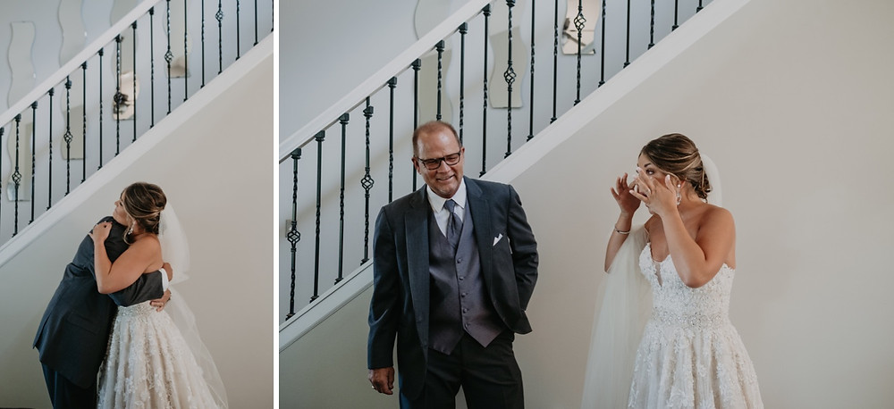 Father of the bride and bride on wedding day. Photographed by Nicole Leanne Photography.