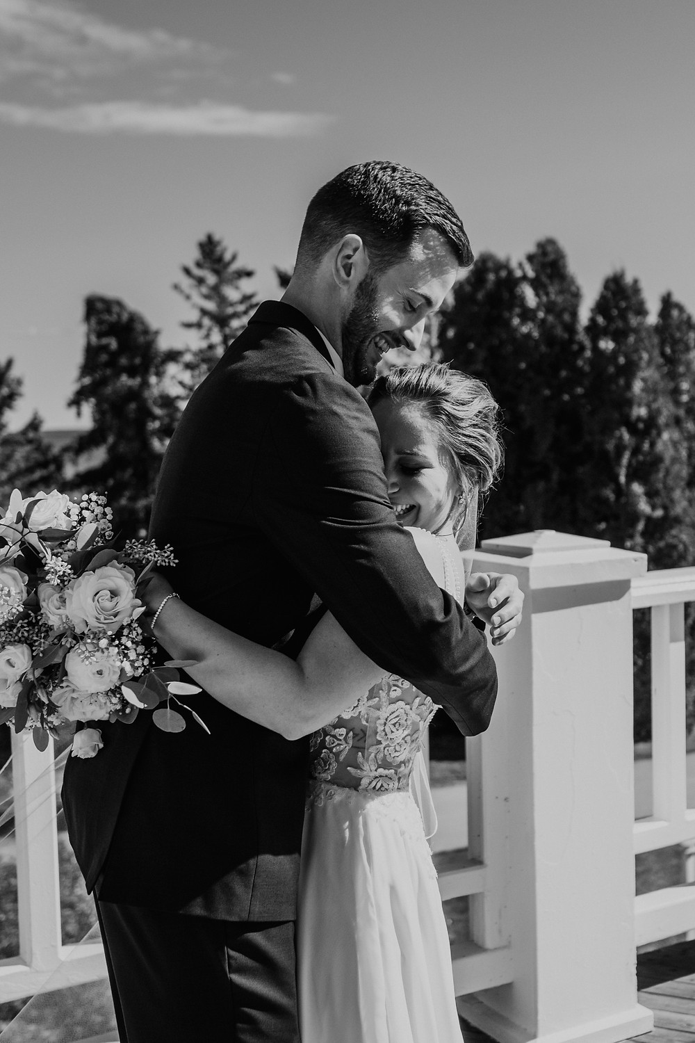 First look with bride and groom. Photographed by Nicole Leanne Photography.