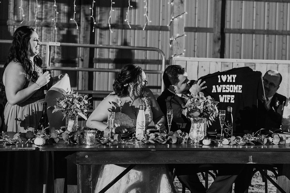 MEtro Detroit wedding speech from maid of honor
