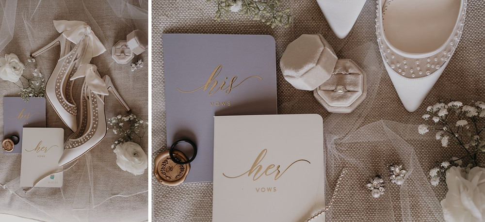 Wedding day detail shots with accessories. Photographed by Nicole Leanne Photography.