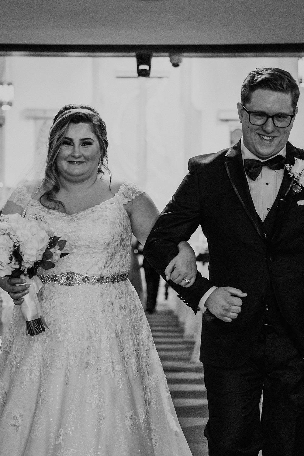 Metro Detroit church wedding. Photographed by Nicole Leanne Photography.