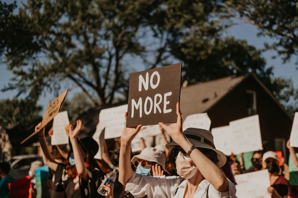 No More 2020 protest sign