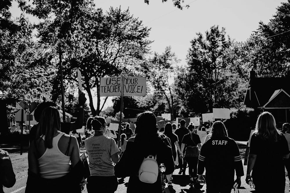City protest in Berkley Michigan for Black Lives Matter movement
