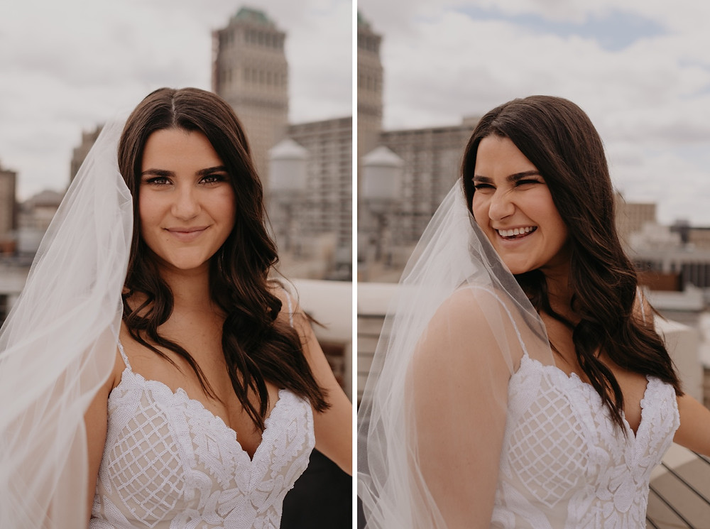 Bridal portraits in Detroit. Photographed by Nicole Leanne Photography.